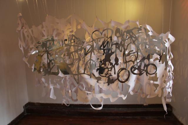 """Hoy en Galeria Neebex """"Recolectar, improducir"""" de Viviana Gonzalez desde las 10am hasta las 6pm."""