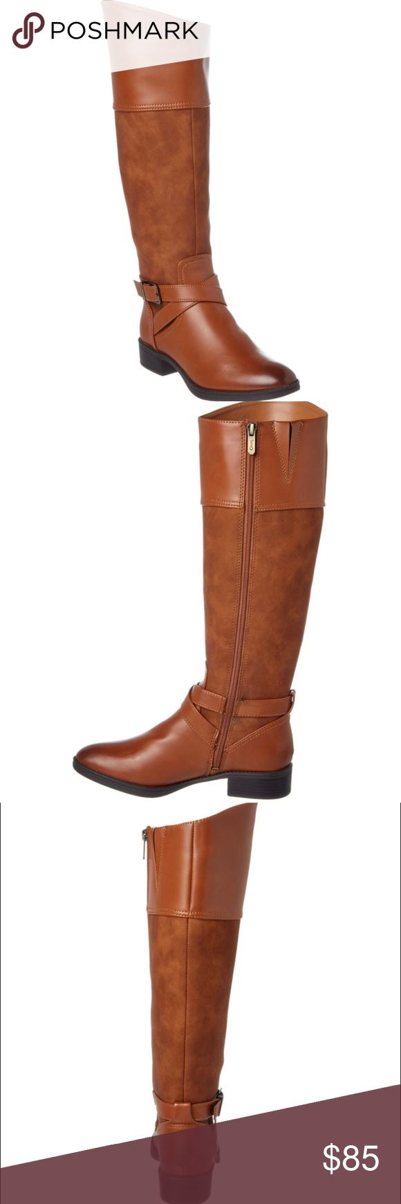 Sam Eldeman Camel Riding Boots BRAND NEW WITH BOX. Circus By Sam Edelman 1.25in Heel Color/Material: Whiskey Faux Leather Inner Side Zip-Up Closure Rubber Sole With Traction 16in Shaft 15.5in Boot Circumference Please Note: All Measurements Are Approximate And Were Taken From A Size 7; Slight Variations May Occur. Imported See Details Design Details: Gold-Tone Hardware, Inner Elasticized Gore Lightly Padded Insole Circus by Sam Edelman Shoes Heeled Boots