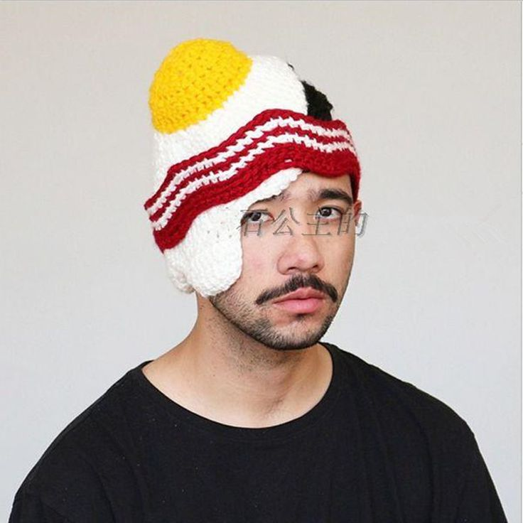 >> Click to Buy << BomHCS Funny Poached Egg Hat Winter Handmade Knitted Beanie Halloween Gift #Affiliate