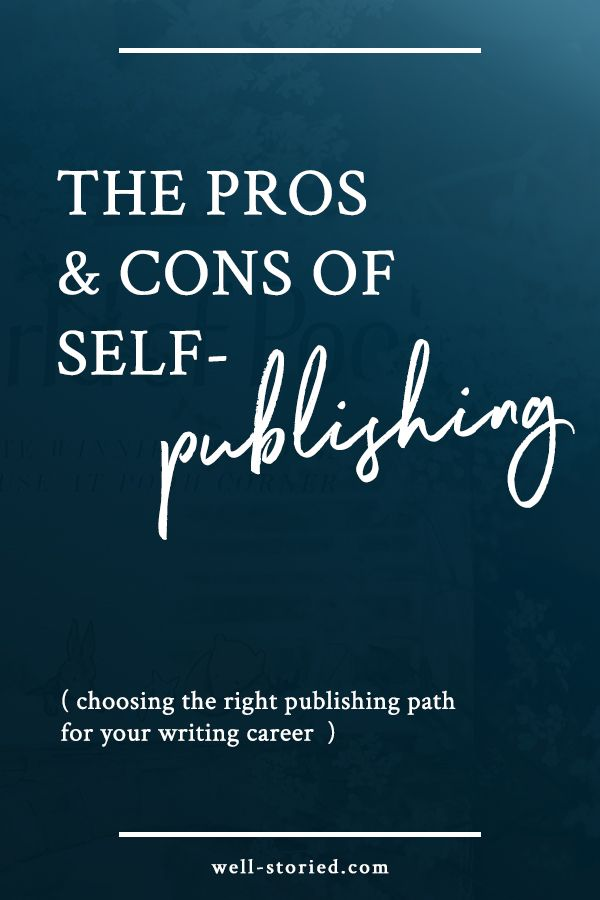 As with much of anything, there are both advantages and disadvantages to self-publishing your fiction. A few weeks back, we covered the pros and cons of pursuing a traditional book dealas a means of publishing your fiction and building a career in writing. Today, we're flipping the tables