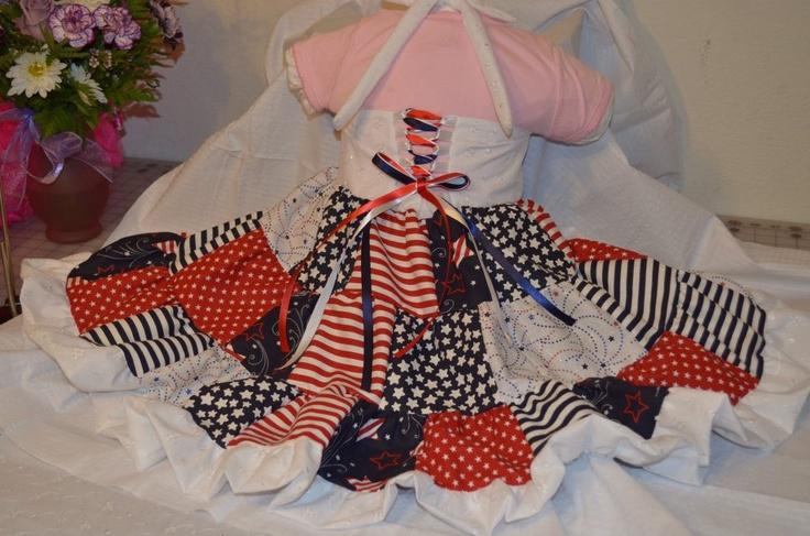 Patriotic dress 3 tier