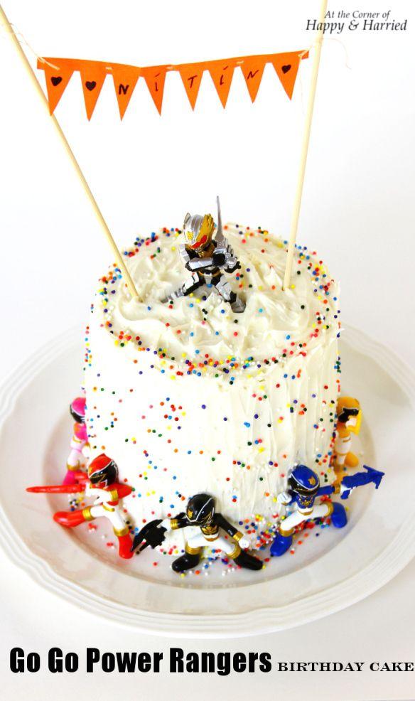 Go Go Power Rangers Birthday Cake