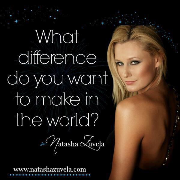 What difference do you want to make in this world? #tashzuvela #quote #shareyourmessage