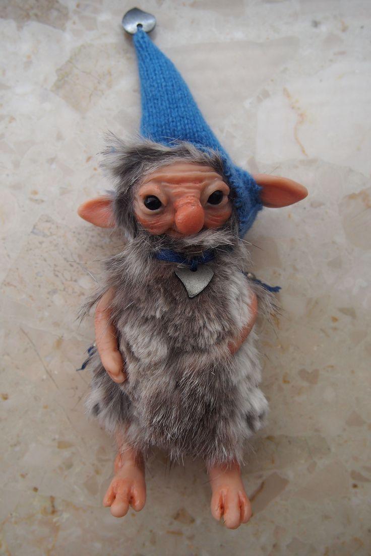 OOAK fantasy art. doll little troll gnome FLO by muyestillo