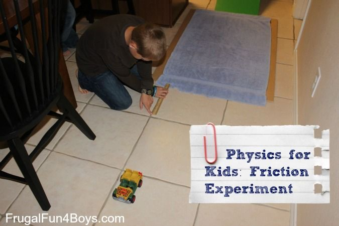 Learn about friction by discovering how far a car will roll on different surfaces