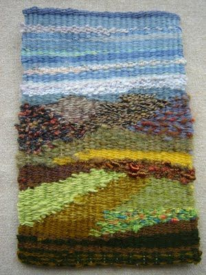 embroidery overlaps: weaving