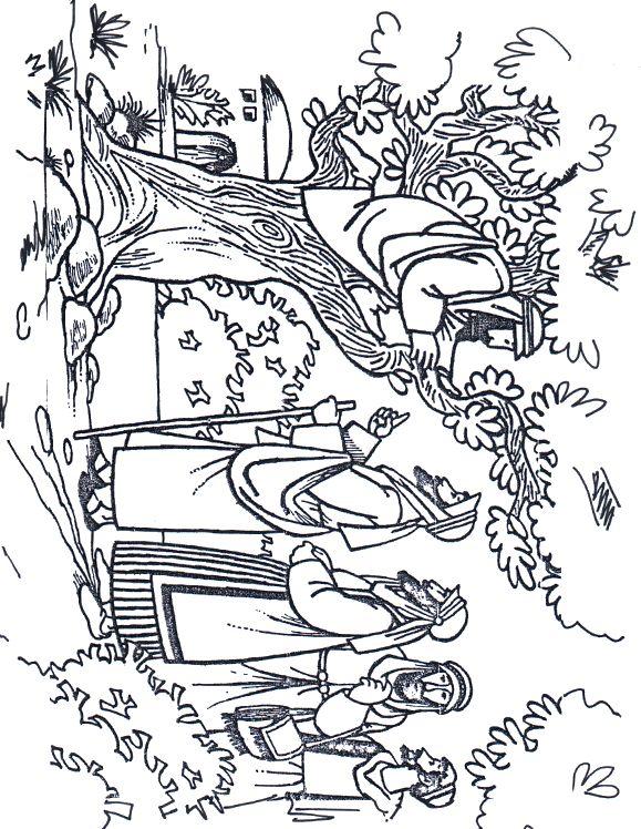coloring pages zacchaeus - photo#24