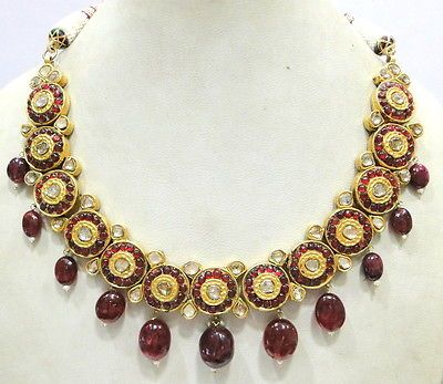 Vintage Antique 22K Gold Diamond Polki Necklace Pendant Rajasthan India   eBay