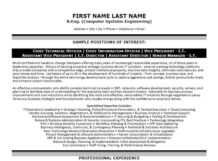 Click Here to Download this Computer Systems Engineer Resume Template! http://www.resumetemplates101.com/templates.php