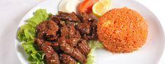 Bœuf loc lac (recette vietnamienne) Les ingrédients pour 4 personnes 400 g de filet de bœuf 2 c à s de concentré de tomate 3 c à s de sauce soja 1 gousse d'ail 1 citron vert 450 g de riz cuit 1 c à s de maïzena 2 c à s d'huile 1 racine de gingembre
