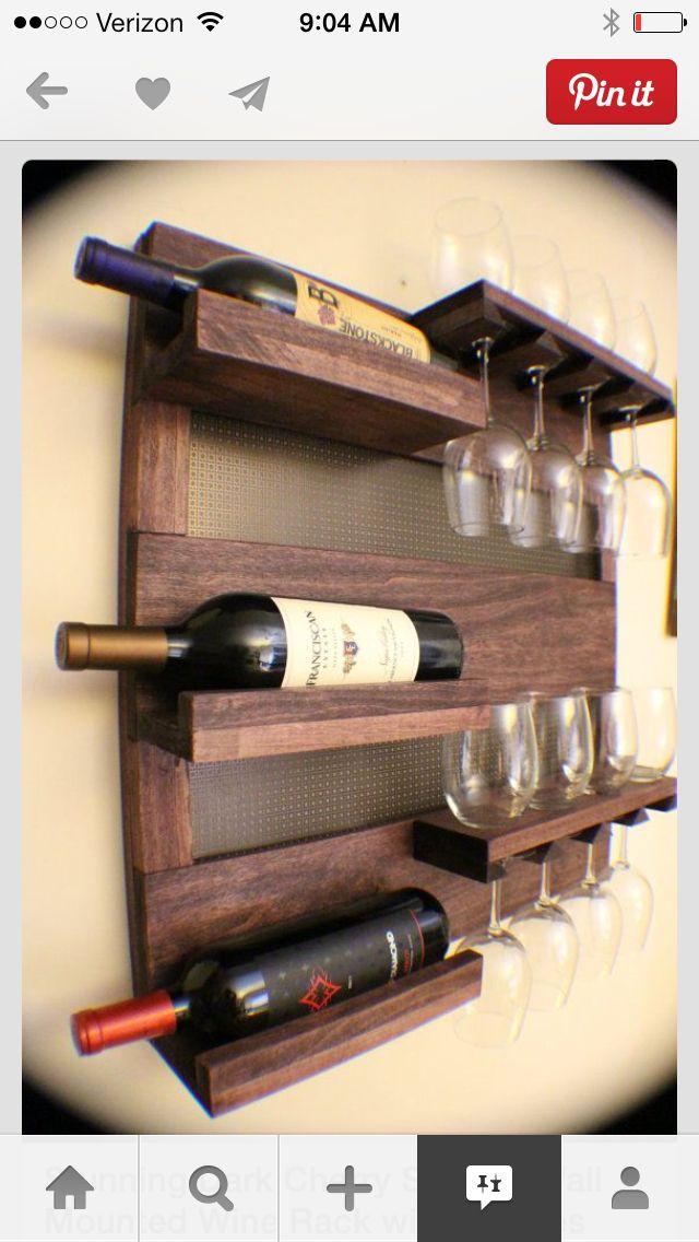Wine and glass rack