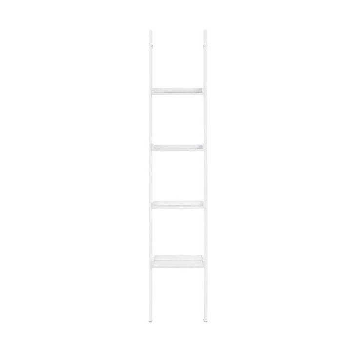 Leiterregal klein aus Mischholz, 36x32x180cm, weiß, weiss