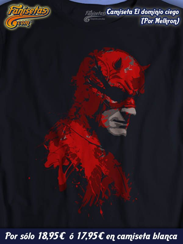 """""""El Demonio Ciego"""" Uno de los personajes mas interesantes de Marvel, #Daredevil, tiene nueva serie y lo celebramos con este diseño! #Camisetas #Comics #SeriesTV #Fanisetas http://www.fanisetas.com/camiseta-el-demonio-ciego-p-5774.html"""
