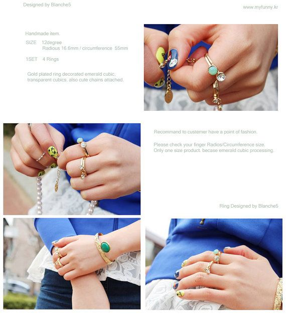 Emerald Gold Style Ring by Myfunny on Etsy, $18.25