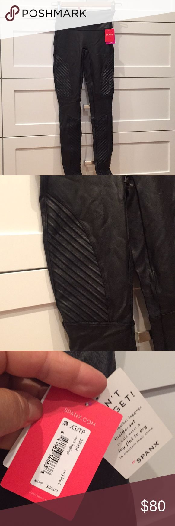 Faux leather Spanx. Size SX/TP. Never worn. New never worn. SPANX Other