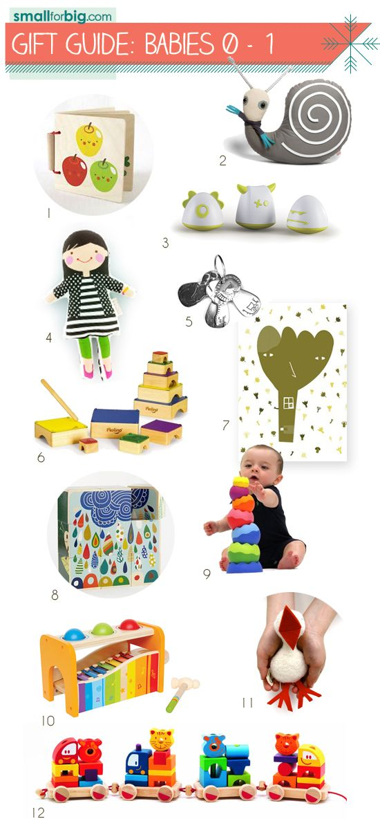 Top 12 Gifts for Babies – Best Toys for Infants – Holiday Shopping Gift Guides for Kids | Small for Big