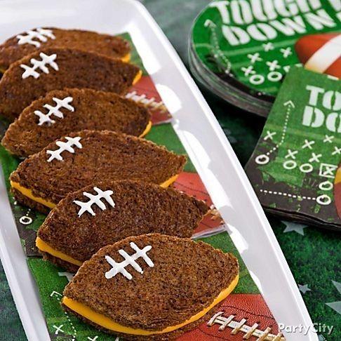 Dark Rye Grilled Cheese Footballs