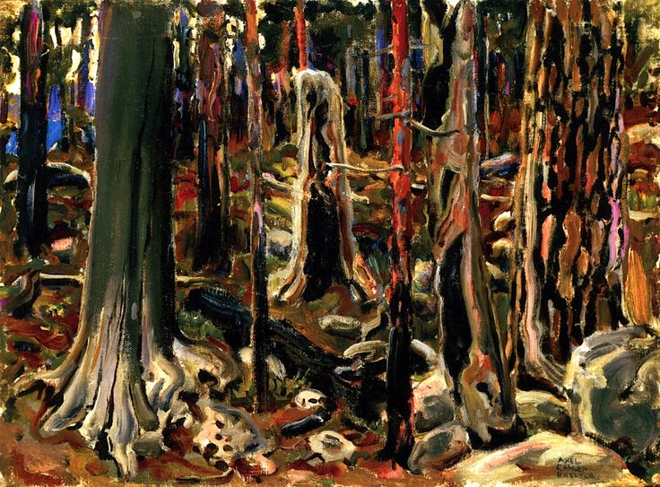 AKSELI GALLEN-KALLELA Burnt Forest (1904)