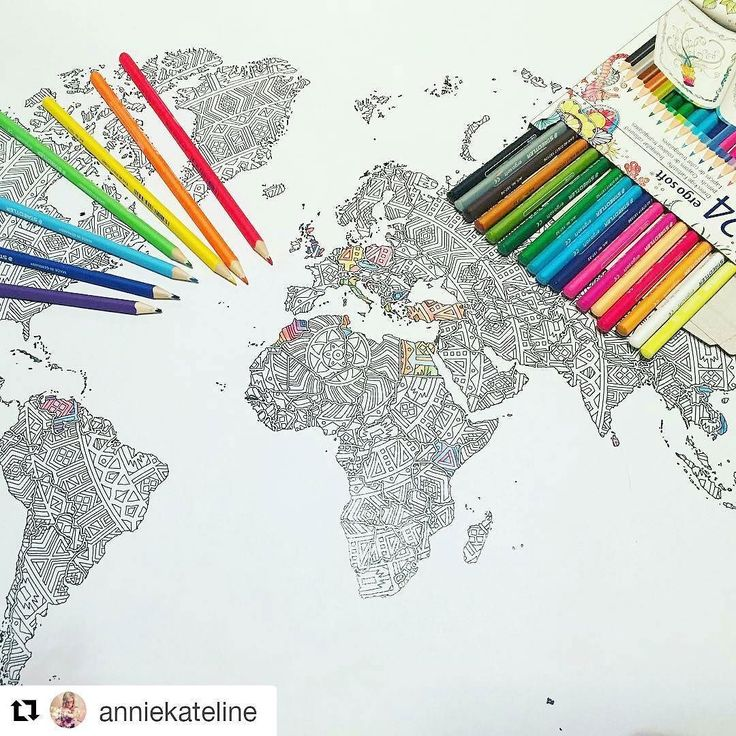 """""""Places I've already been to. One day I'll get to color it all. """" - Repost from @anniekateline  Ania's map is getting so colorful I love how it turns out!  She's travelling to US for the next year and just started a new travel blog - step by using the link in her bio ;) I'm sure the white spots on the world map are going to fill in quickly."""