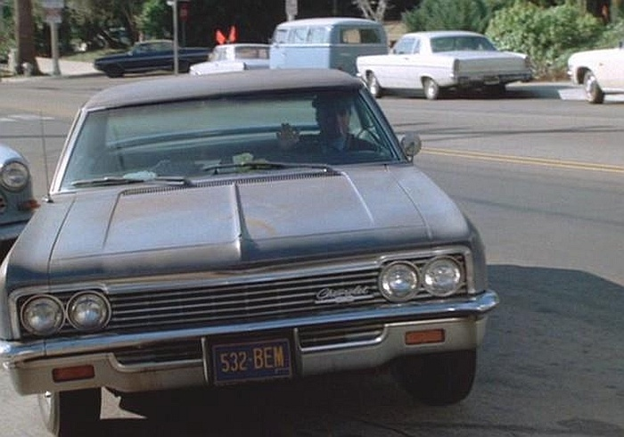 """""""The Blue Ghost"""", a beat up, rusted out 1966 Chevy Impala four-door sedan driven by Detective Anthony Vincenzo """"Tony"""" Baretta on the ABC TV show """"Baretta"""".  It didn't look like much, but it got the job done.   """"And you can take dat to da bank!"""""""