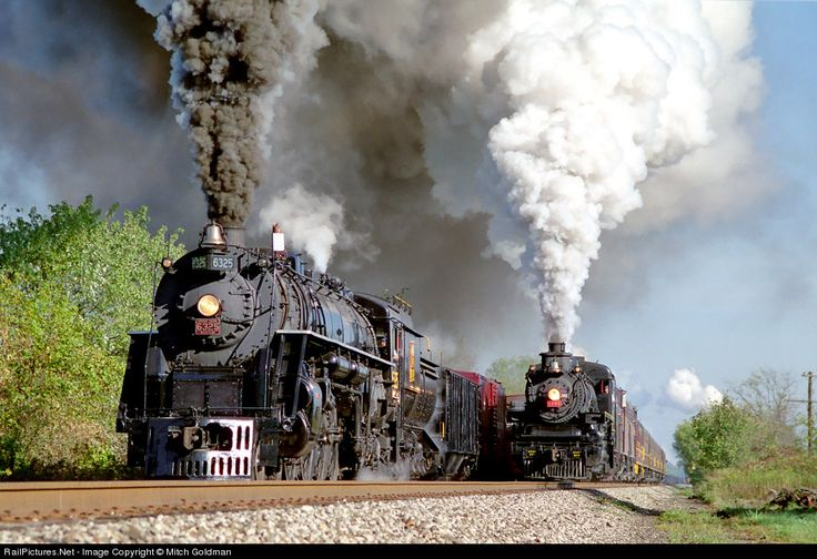 RailPictures.Net Photo: GTW 6325 Ohio Central Steam 4-8-4 at Coshocton, Ohio by Mitch Goldman