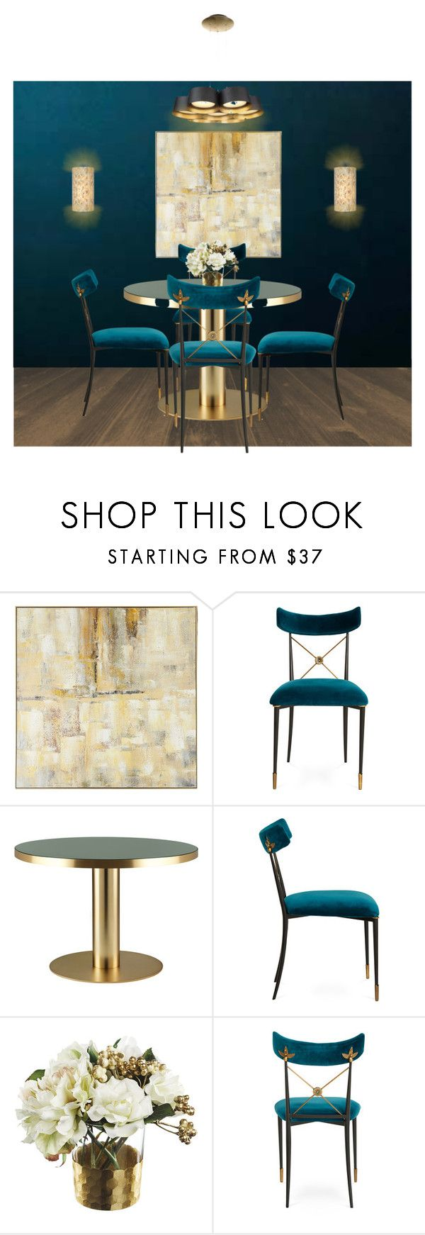 """""""Elegant Dining Table"""" by sentioinfinitum ❤ liked on Polyvore featuring interior, interiors, interior design, home, home decor, interior decorating, Pier 1 Imports, Gubi, Paper Whites and Tech Lighting"""