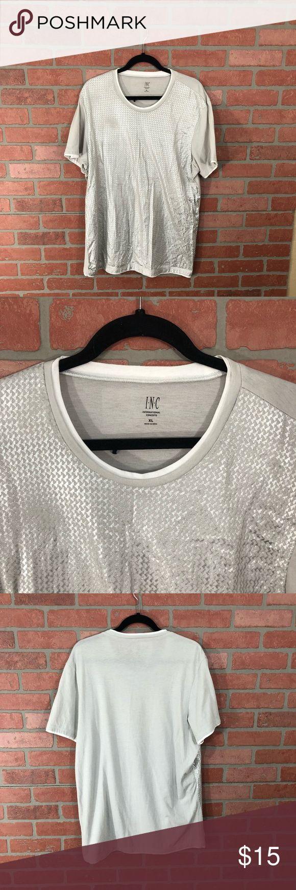 INC silver T-Shirt INC  Fun Silver/gray shirt  Size XL INC International Concepts Shirts Tees - Short Sleeve
