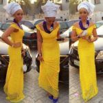 Top Ten Beautiful French Lace Aso Ebi Styles For Ladies