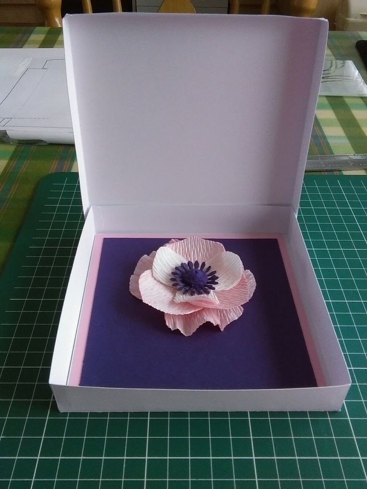 An anemone crepe flower card. Learnt this art from a Craftsy Quilling Course with Paper Zen :) Well worth it!