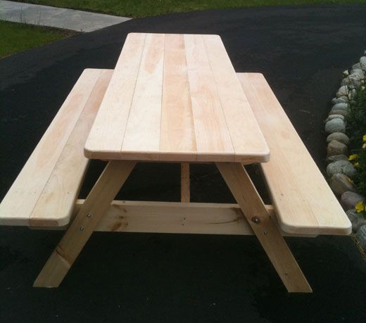 8 foot picnic table plans free woodworking projects plans for Box table design