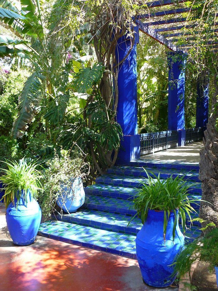 Jardin Majorelle Marrakech Jardines Rusticos Paisajismo De Patio Jardin Azul