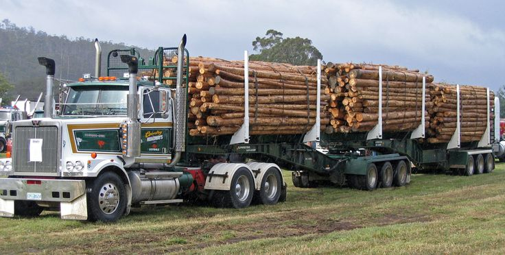 Timber Industry Log Truck at Geeveston, Forestry Tasmania Festival. Article by Len Langan for Think #Tasmania.