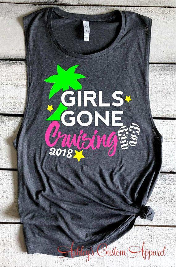 6833198a Cruise Shirts For Women Girls Gone Cruising Tank Tops Funny Girls Trip  Shirts Matching Vacation Shirt Cruise Ship Muscle Tank Ship Faced