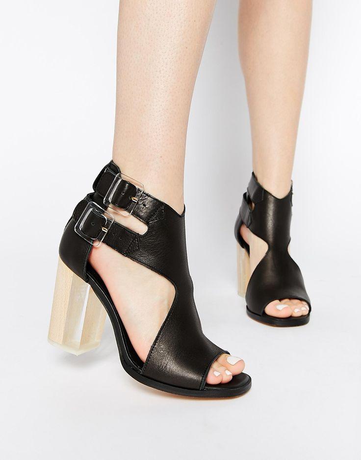 Mom Schuhe Block Heel Damenschuhe Leder Handmade Retro Damen Schuhe Wanderschuhe (Farbe : B, Größe : 36) Huan