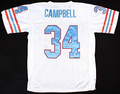 sports shoes 59328 3f890 Earl Campbell #34 Signed Houston Oilers Mitchell & Ness ...