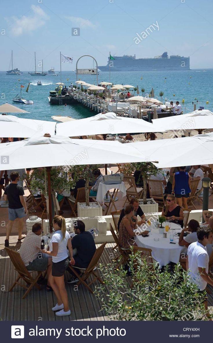 Le Baoli Beach restaurant, Boulevard de la Croisette, Cannes, Costa Azul, France