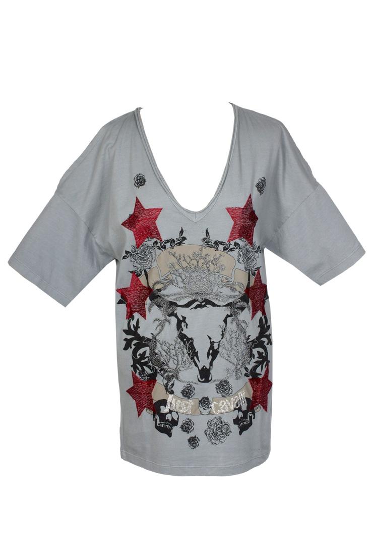 Trendy T-Shirt V collar by Just Cavalli