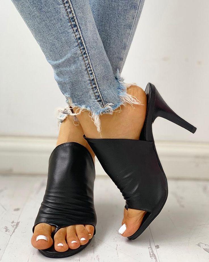 Lets Dance Black Lace-Up Heels at reddressboutique.com
