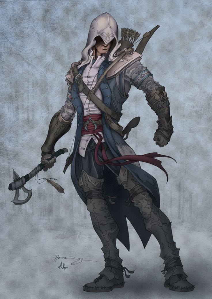 Assassin's Creed 3: Connor colored by *alexasrosa on deviantART