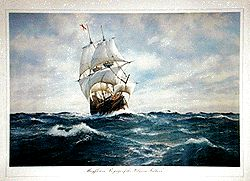 Voyage of the Pilgrim Fathers Poster