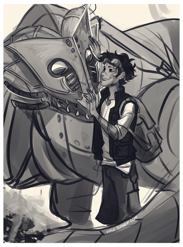 Leo and Festus, by Viria on tumblr | Percy Jackson ...