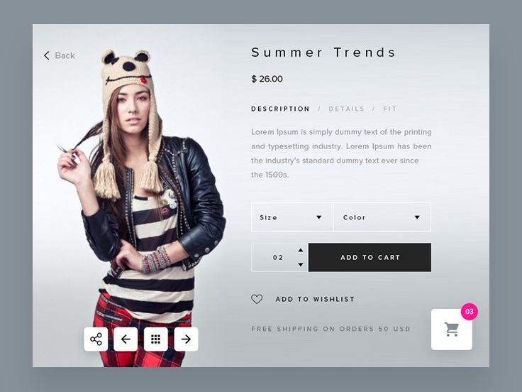 Product Detail Page – Ecommerce UI