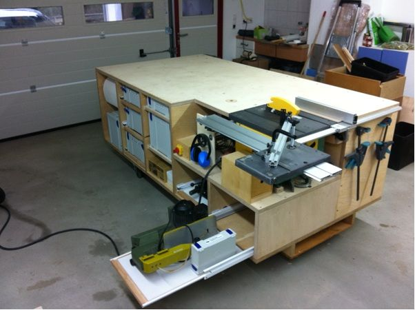 Rolling Workbench; Systainer-Port; Tablesaw and Router ...