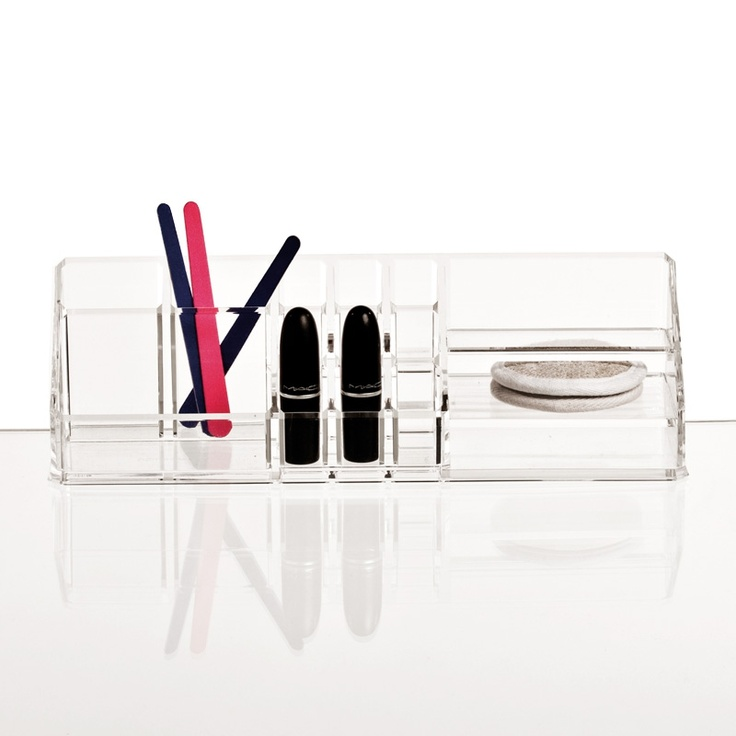 Clear Make Up Organizer from Nomess. #storage