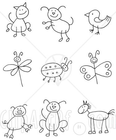 Drawing stick animals~could really come in handy!: Craft, Kids Drawing, Stick Animals, Stick Figures, Simple Animal Drawing, Simple Drawing, Drawing Stick