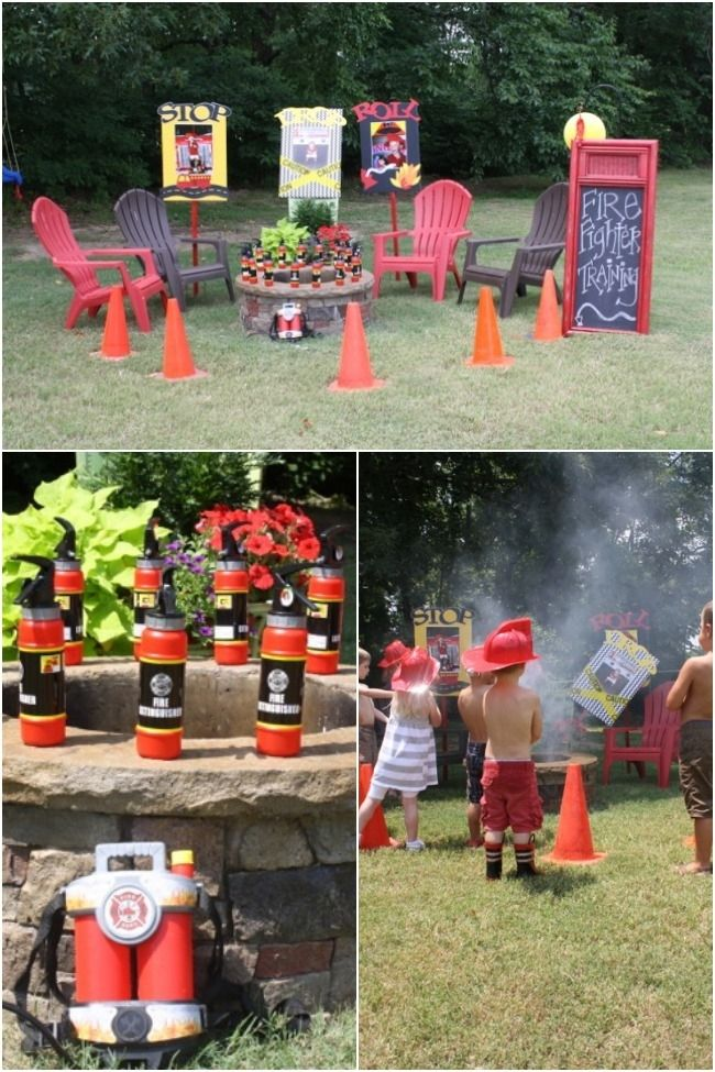 Fireman Birthday Party Games www.spaceshipsandlaserbeams.com