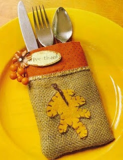 cute idea for fall tableware