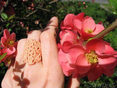 Mirtusz : Szerelemgyerekeim: A Mirtusz-gyűrűk  Horgolt gyűrű