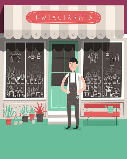 Picture book for children about small shops. Coming this december. More info: http://www.ladne-halo.pl/sklepy