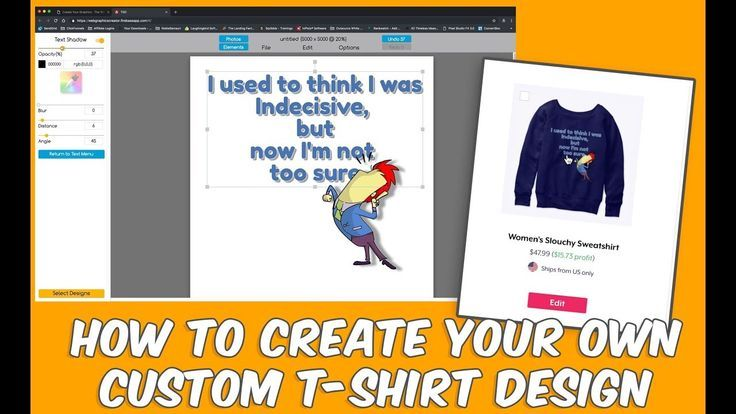 Make A Custom T Shirt Design In Minutes Even If You Re Not A Graphic Designer Sell The D Learning Graphic Design Custom Tshirt Design Graphic Design Software